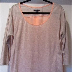 American Eagle Tan and Peach Blouse
